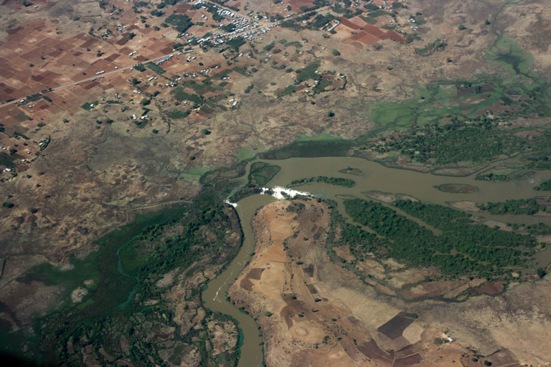 Blue Nile Falls from the Air