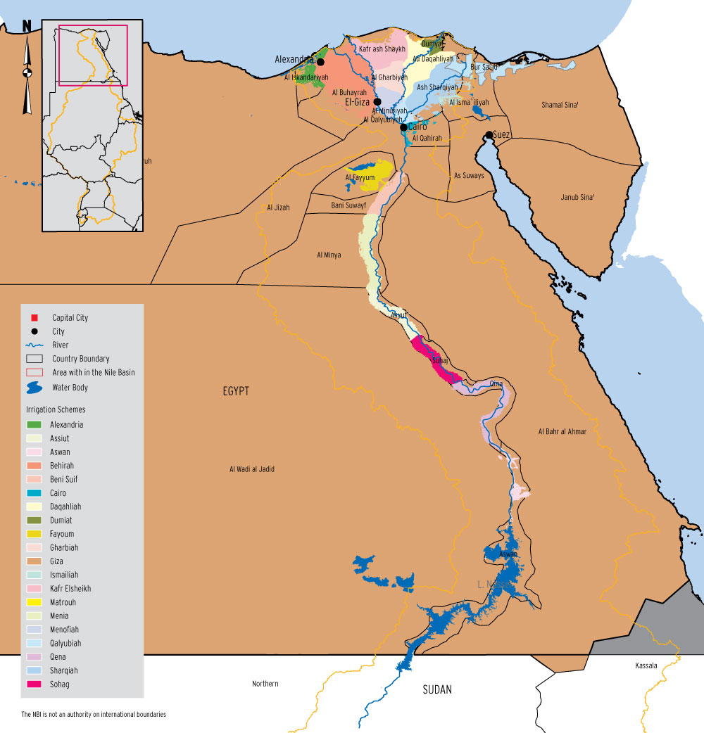 Irrigation areas in Egypt – Nile Basin Water Resources Atlas on